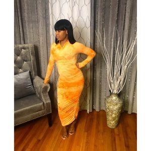 Orange Cloud Dress